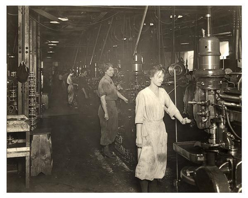 Female factory workers