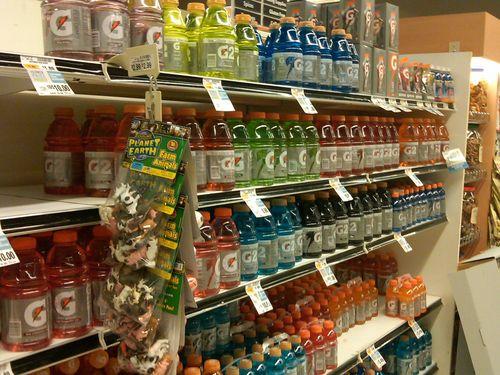 Gatorade shelves